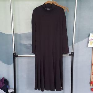 Lennie by Nina Leonard Black Dress